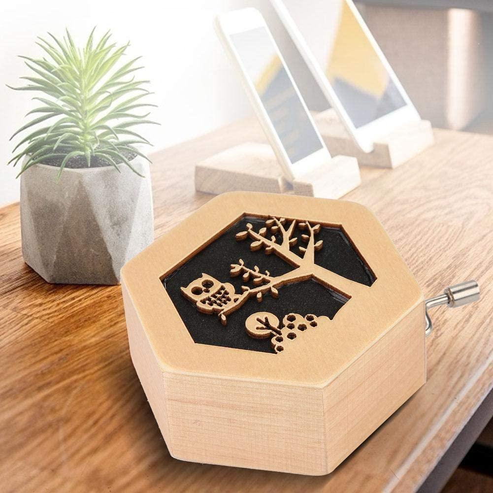 Duokon Boîte à Musique légère en Forme de boîte à Bois sculptée